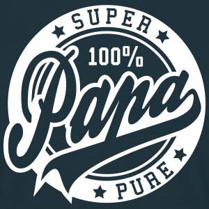100 percent PURE SUPER PAPA T-shirts - Mannen T-shirt