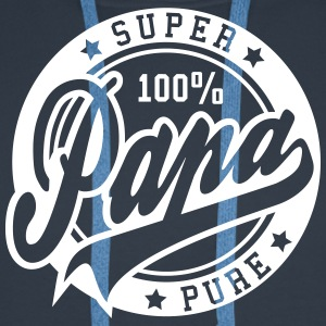 100 percent PURE SUPER PAPA Sweat-shirts - Sweat-shirt à capuche Premium pour hommes