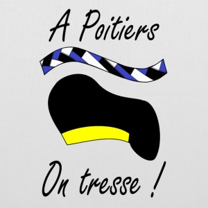 A Poitiers, on tresse ! jaune Bags & Backpacks - Tote Bag