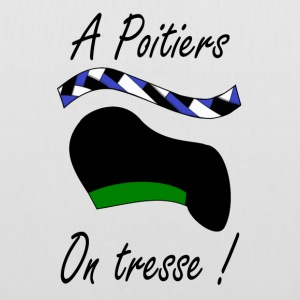 A Poitiers, on tresse ! vert Bags & Backpacks - Tote Bag