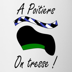 A Poitiers, on tresse ! vert Bottles & Mugs - Mug