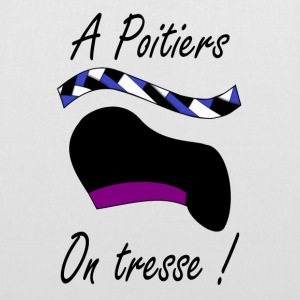 A Poitiers, on tresse ! violet Bags & Backpacks - Tote Bag