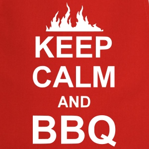 keep calm and BBQ  Aprons - Cooking Apron
