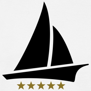 Sailing 5 Stars, Sailor, Boat, Surfing, Sea, five T-Shirts - Männer T-Shirt