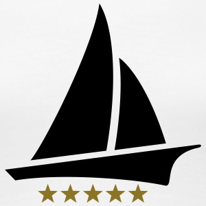 Sailing 5 Stars, Sailor, Boat, Surfing, Sea, five T-Shirts - Women's Premium T-Shirt