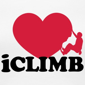 Climbing, iclimb,I Love Heart, Sports, Rock, Climb T-Shirts - Women's Premium T-Shirt