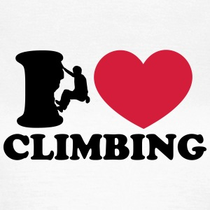 Climbing, I Love Heart, Sports, Rock, Extreme T-shirts - Vrouwen T-shirt