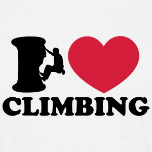 Climbing, I Love Heart, Sports, Rock, Extreme T-shirts - Mannen T-shirt
