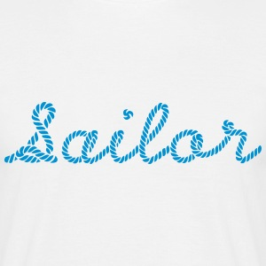 Sailor, Sailing, Skipper, Rope, Sea T-Shirts - Männer T-Shirt