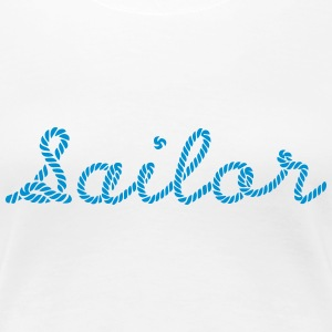 Sailor, Sailing, Skipper, Rope, Sea T-skjorter - Premium T-skjorte for kvinner