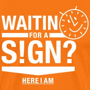 Waiting for a sign. T-Shirts - Männer Premium T-Shirt