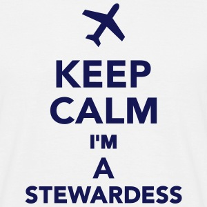 Keep calm I'm a stewardess T-Shirts - Männer T-Shirt