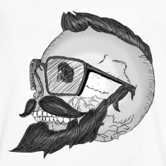 Hipster Skull Moustache Tee shirts