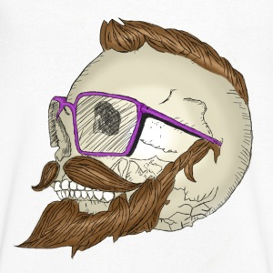 Hipster Skull Moustache Tee shirts - Tee shirt Homme col V