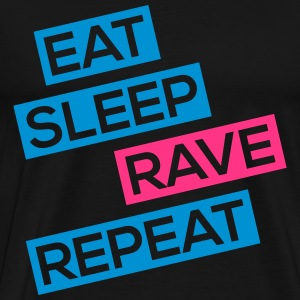 eat sleep rave repeat T-Shirts - Männer Premium T-Shirt