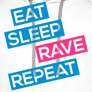 eat sleep rave repeat Pullover & Hoodies - Männer Premium Hoodie