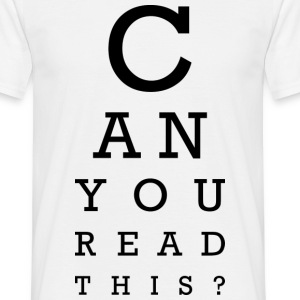 Can you read this? Tee shirts - T-shirt Homme