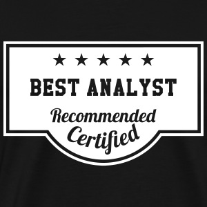 Best Analyst T-skjorter - Premium T-skjorte for menn