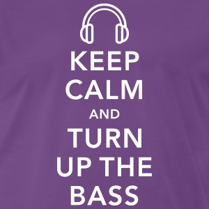 keep calm and turn up the bass T-Shirts - Men's Premium T-Shirt