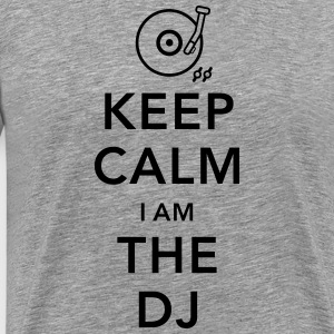 keep calm i am deejay dj T-shirts - Mannen Premium T-shirt