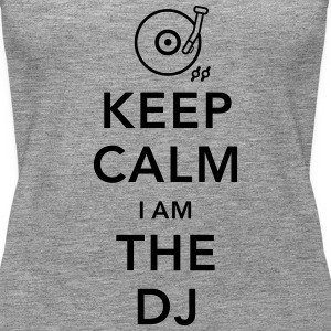 keep calm i am deejay dj Top - Canotta premium da donna