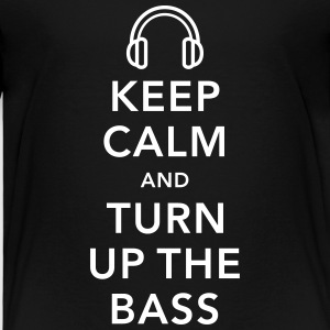 keep calm and turn up the bass Shirts - Kinderen Premium T-shirt