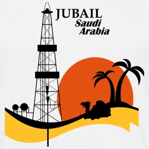 Oil Rig Saudi Arabia Jubail Middle East - Men's T-Shirt