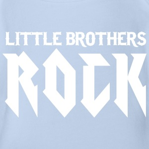 Little Brothers Rock Shirts - Organic Short-sleeved Baby Bodysuit