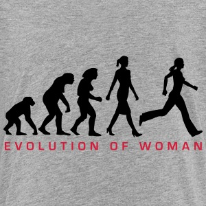 evolution_of_woman_jogging_a_2c T-Shirts - Teenager Premium T-Shirt