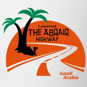 Saudi Arabia Highway Middle East - Contrasting Mug