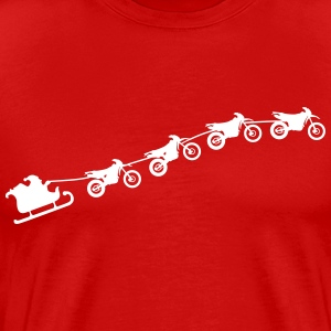 Christmas sleigh from flying dirt bikes T-Shirts - Men's Premium T-Shirt