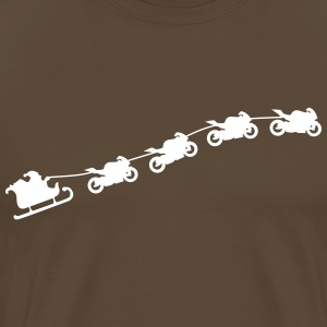 Christmas sleigh from flying motorcycles T-Shirts - Men's Premium T-Shirt
