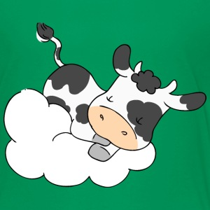 Cow Sleeping on Cloud Shirts - Kids' Premium T-Shirt