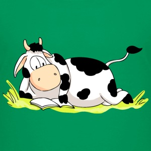 Reading Cow Shirts - Kids' Premium T-Shirt