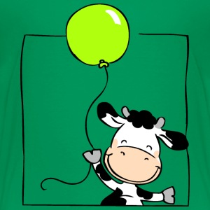 Cow with Balloon Shirts - Kids' Premium T-Shirt