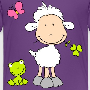 Sheep with Frog Friend Shirts - Kids' Premium T-Shirt