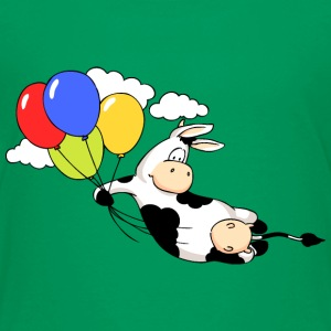 Cow Flying with Balloons Shirts - Kids' Premium T-Shirt