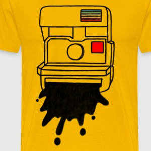 Vintage Polaroid Camera - Men's Premium T-Shirt