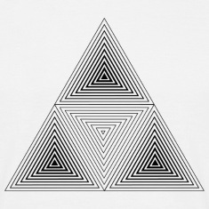 Fractal Geometry Triangle T-Shirts
