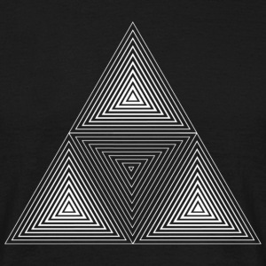 Fractal Triangle Inverted T-Shirts - Men's T-Shirt