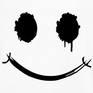 A smiley face graffiti T-Shirts - Men's V-Neck T-Shirt
