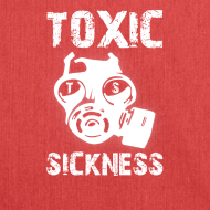 Design ~ NEW Ladies Red Toxic Sickness Shoulder Bag