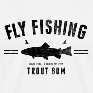 Fly fishing trout  - Premium-T-shirt herr