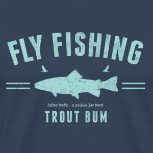 Fly fishing trout bum - Premium-T-shirt herr