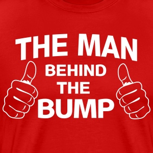The Man Behind the Bump T-Shirts - Men's Premium T-Shirt