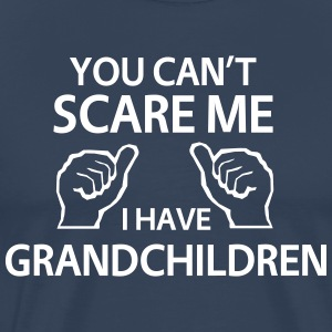 Navy You Can't Scare Me I Have Grandchildren T-shirts - Mannen Premium T-shirt