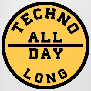 TECHNO ALL DAY LONG Flaschen & Tassen - Bierkrug