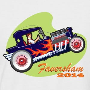 Faversham Transport  Hot Rod - Men's Baseball T-Shirt