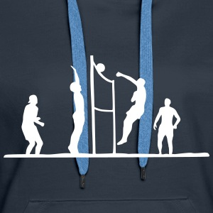 Volley-ball, Beach-volleyball - Sweat-shirt à capuche Premium pour femmes