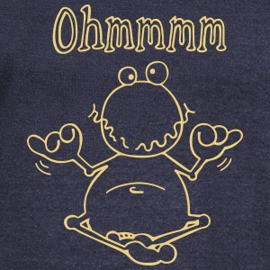 Ohmmm frog- meditation - toad Hoodies & Sweatshirts - Women's Boat Neck Long Sleeve Top